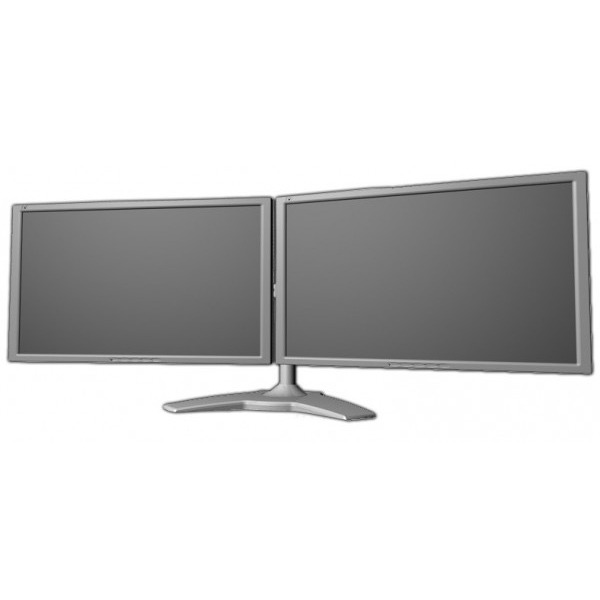 Support de bureau pour 2 écrans plats – 125€